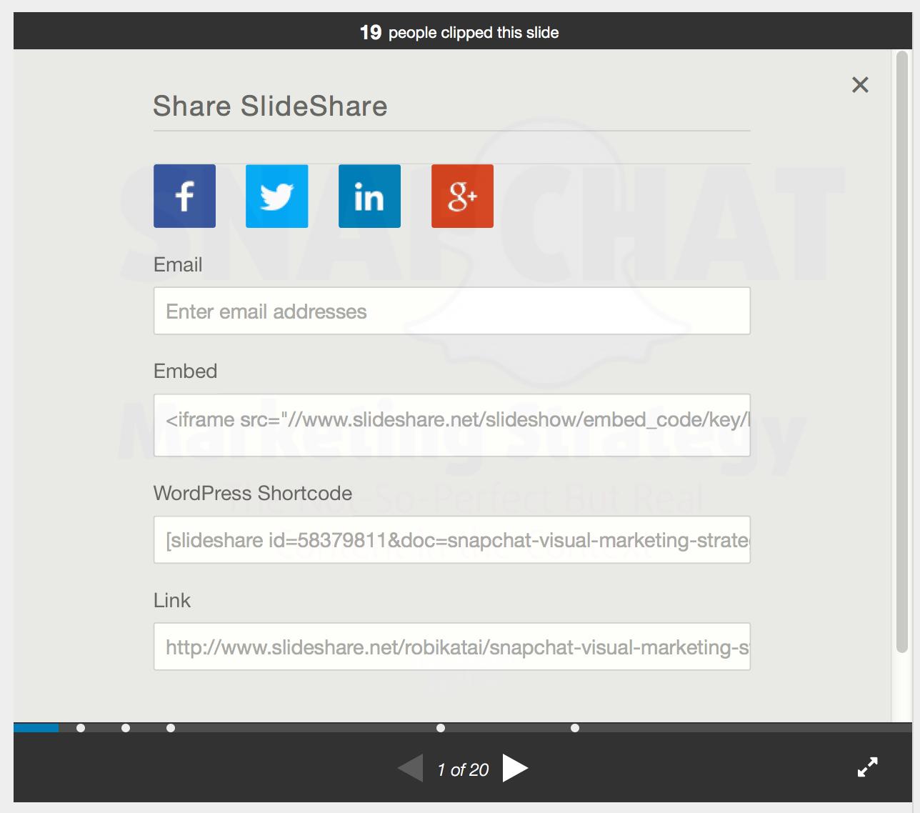 Slideshare social media share