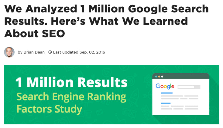 We Analyzed 1 Million Google Search Results