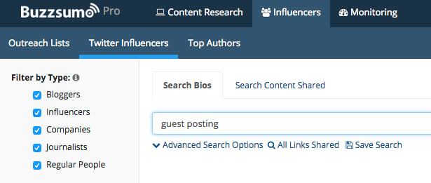 buzzsumo influencer