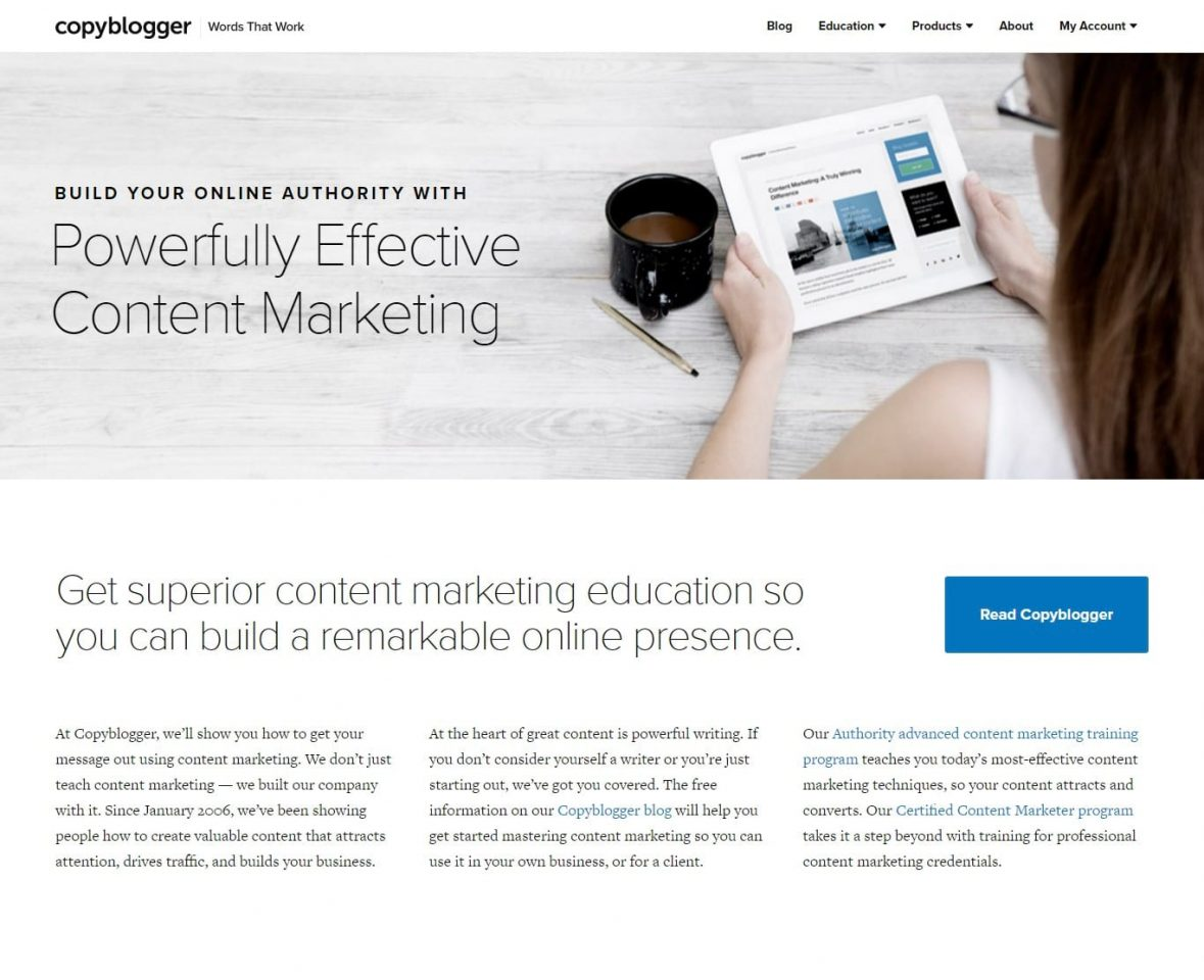 Copyblogger content marketing success