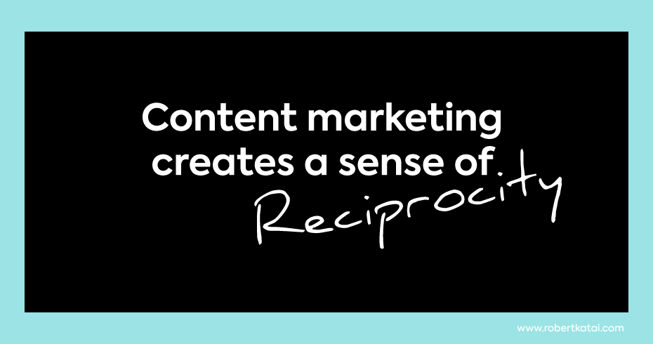 what sense creates content marketing