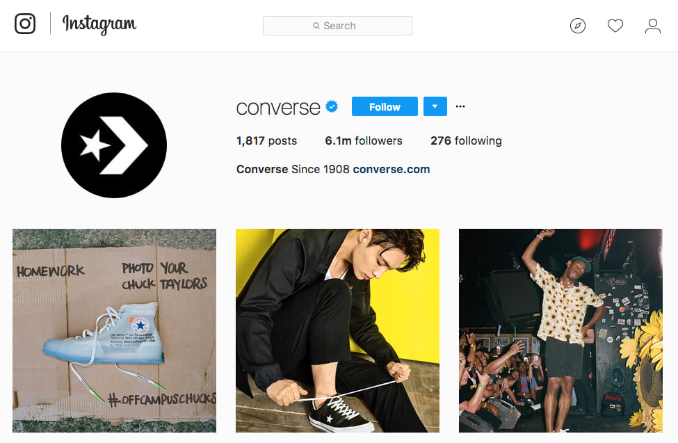 Converse Instagram Marketing