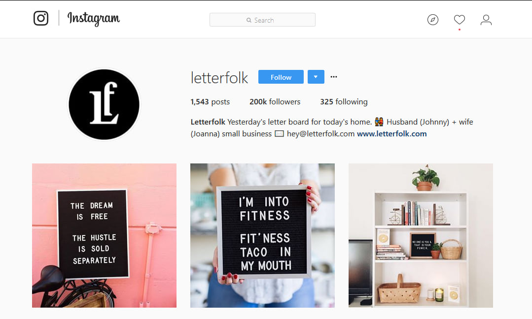 Letterfolk Instagram