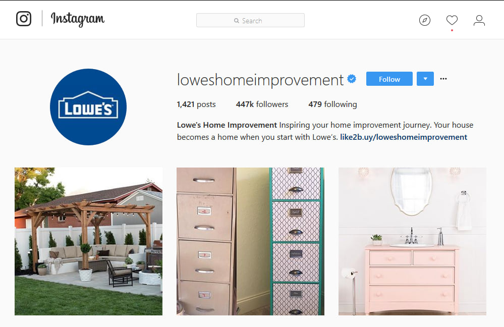 Lowe's Instagram Marketing