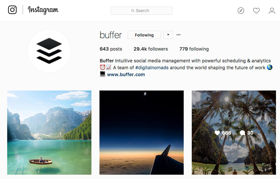 buffer instagram