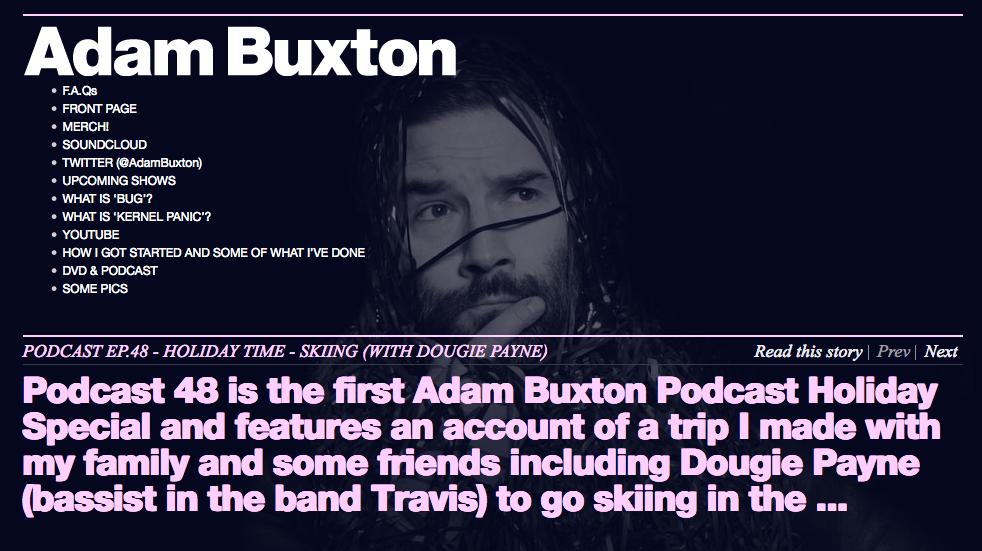 Adam Buxton's podcast