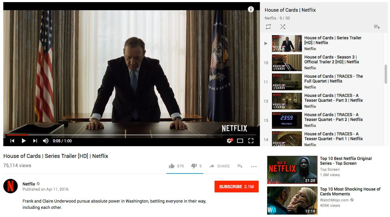house of cards content marketing netflix