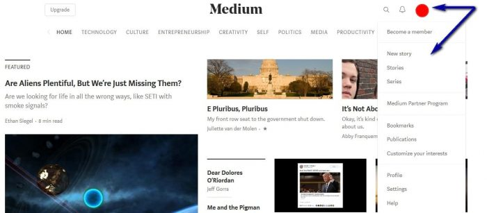 how to publish article on Medium