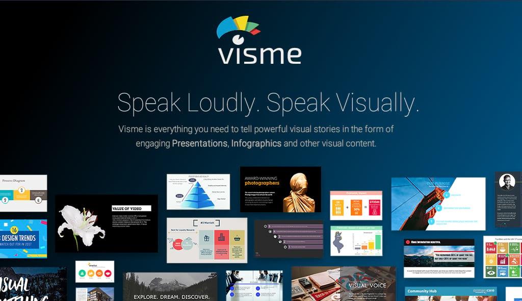 Visme visual content tool