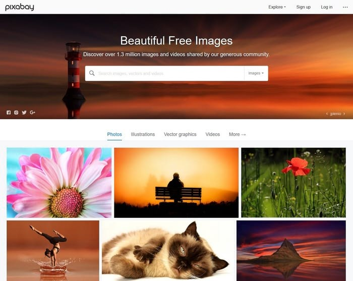 Pixabay visual content tool