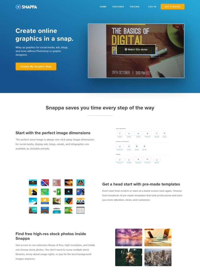 Snappa visual content tool