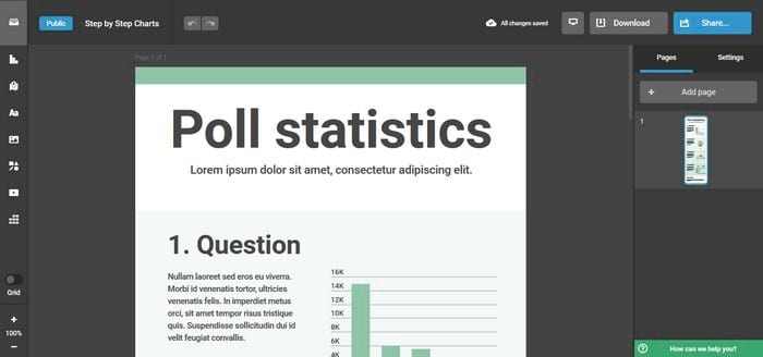 Infogram visual content tool