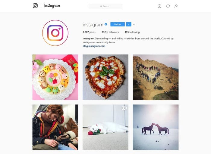 Instagram visual content tool