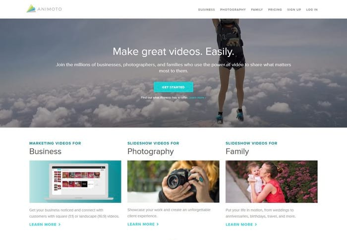 Animoto visual content tool