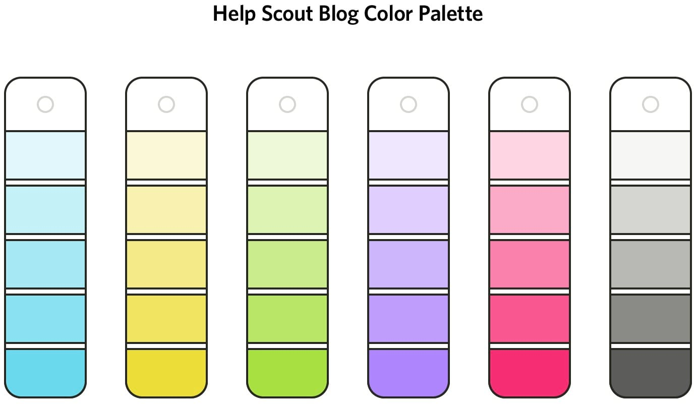 blog color palette