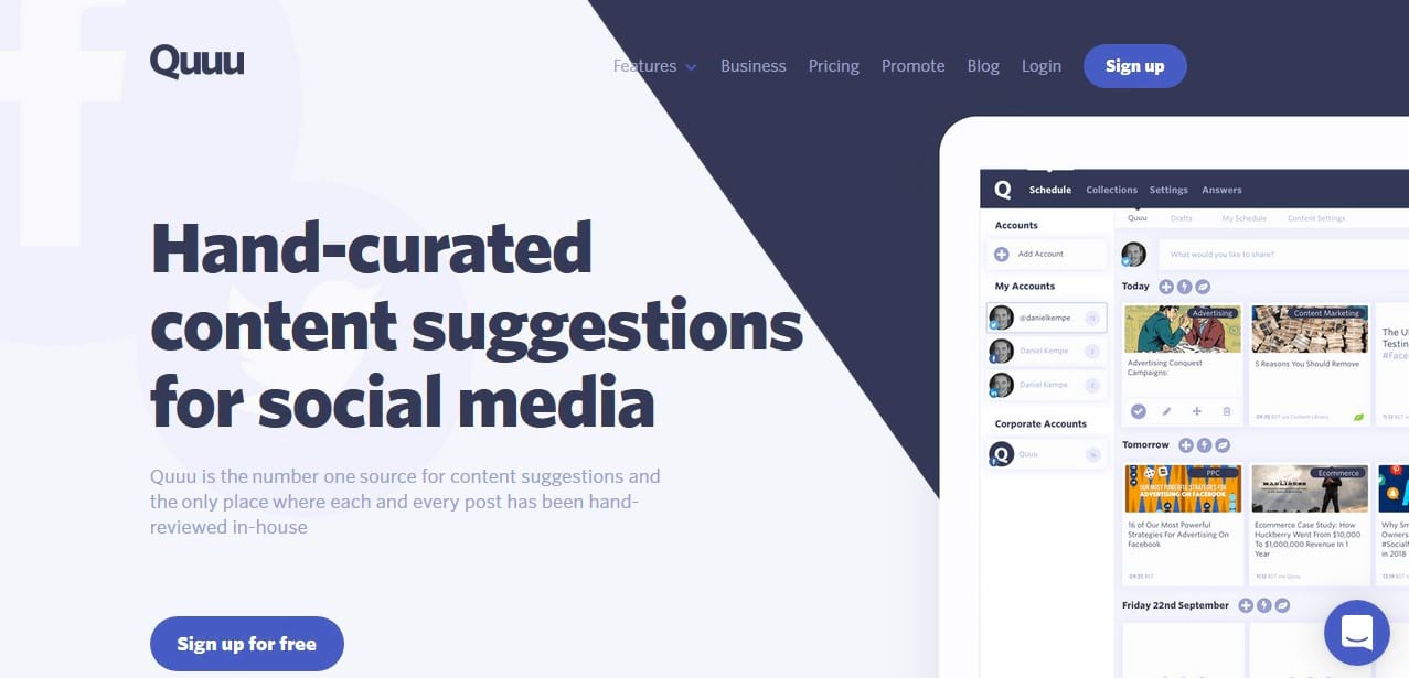 quuu social media tool