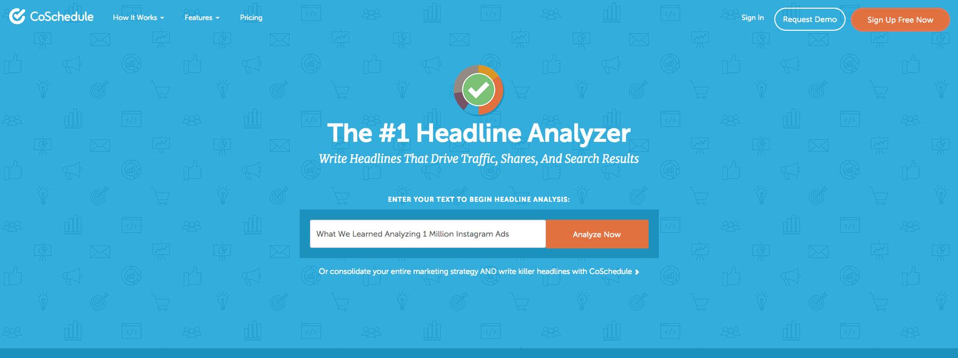 coschedule headline analyzer landing page