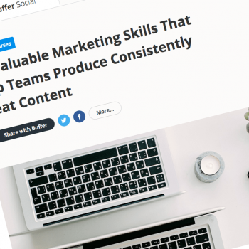 buffer article marketing skill
