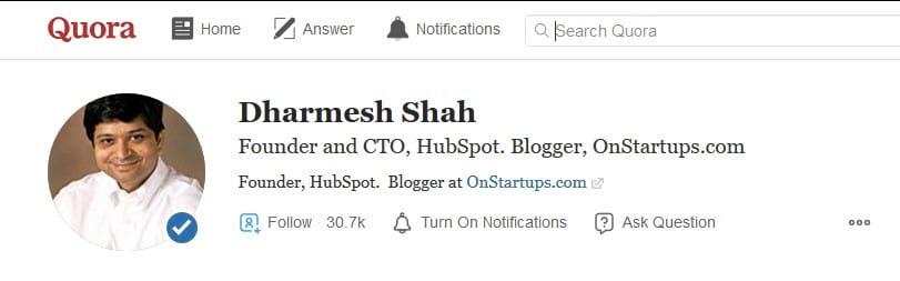 Dharmesh Shah HubSpot Quora