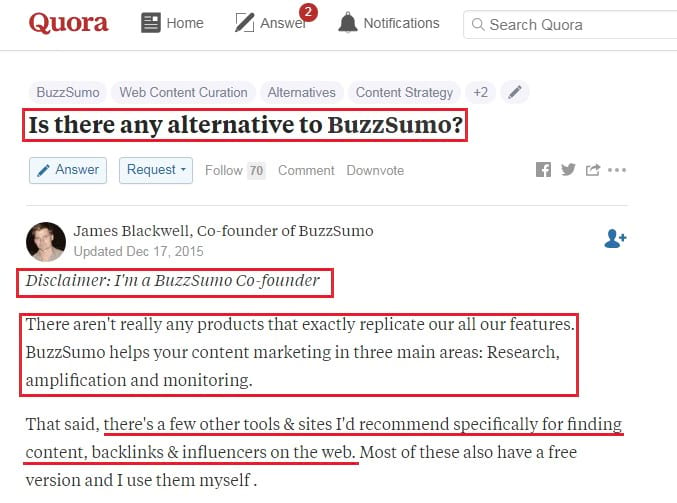 buzzsumo quora marketing
