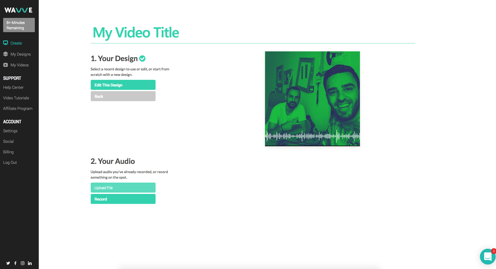 how to create video podcast with wavve