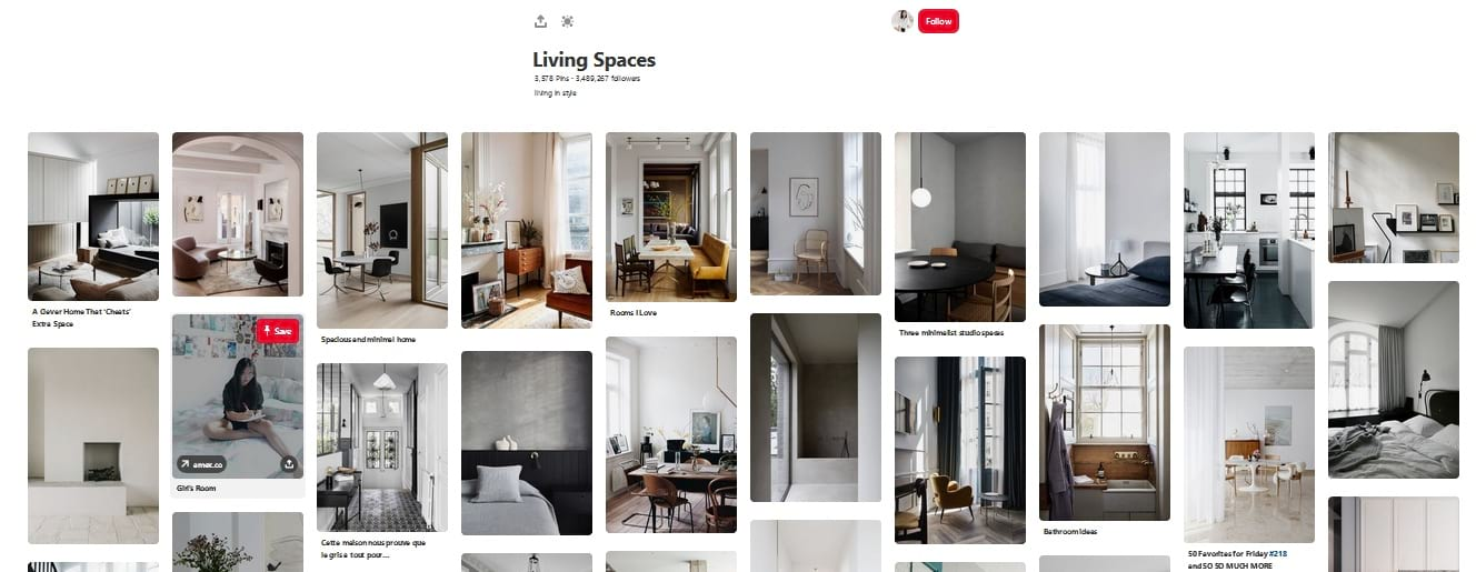 Living Spaces Pinterest