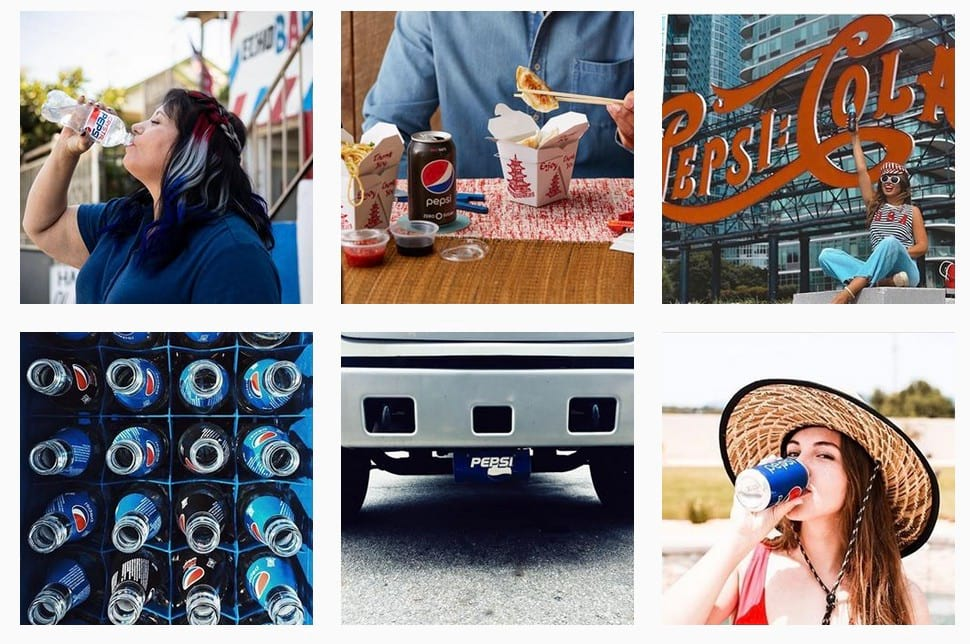 Pepsi visual content strategy