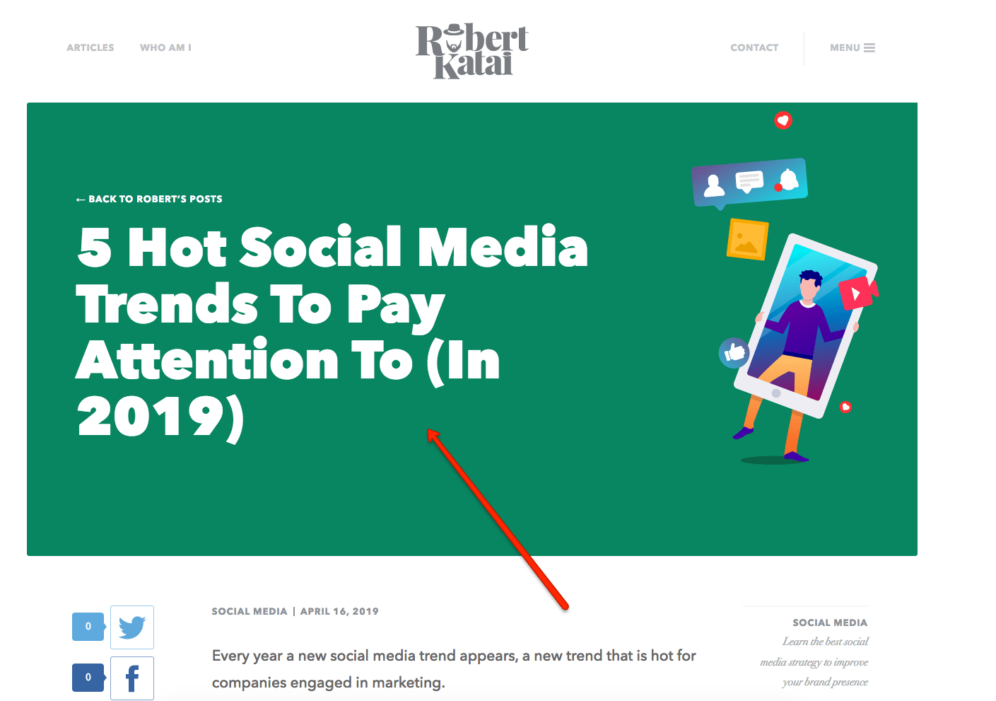 social media trends article