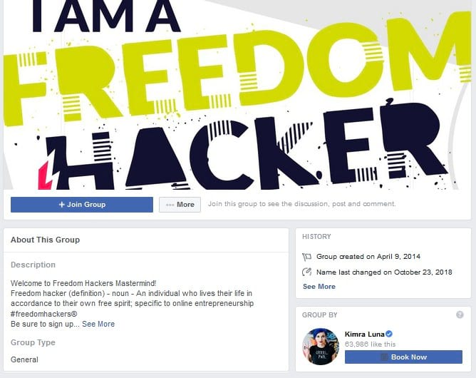 Freedom Hackers Facebook Group