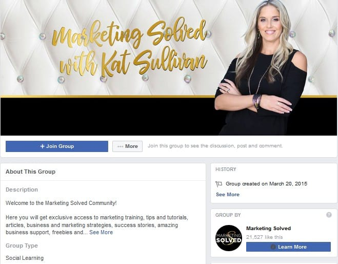 Marketing Solved Facebook Groups