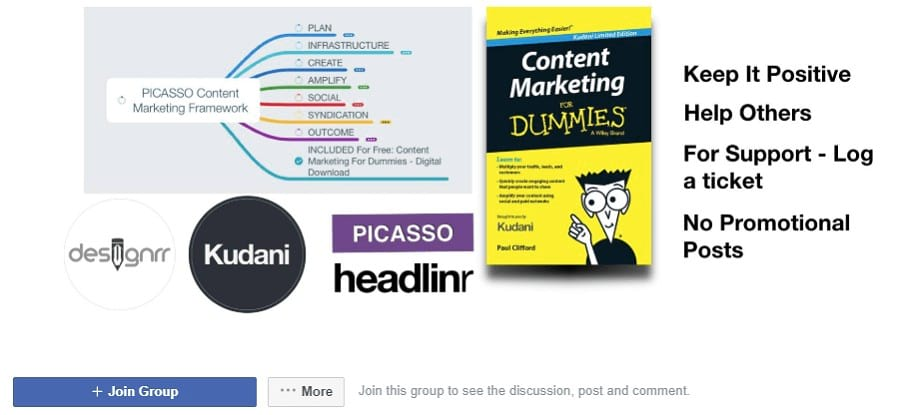 Picasso Content Marketing Facebook Groups