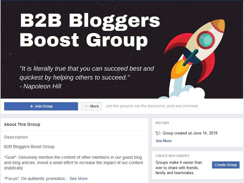 B2B Bloggers Boost Group