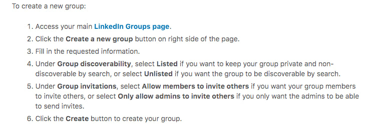 Create Linkedin Groups