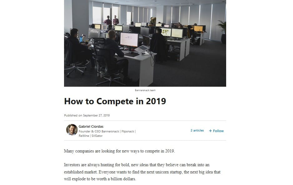 linkedin article